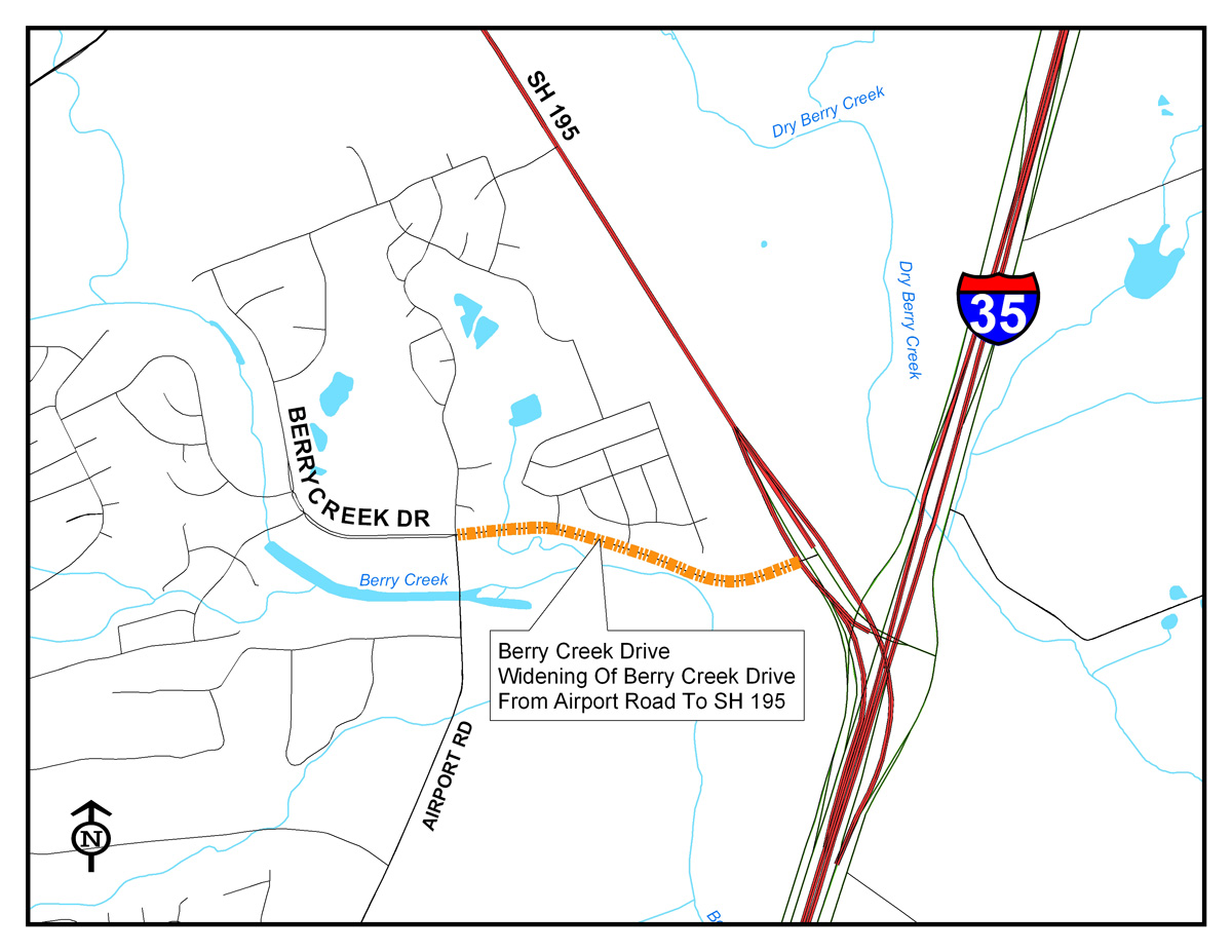 Berry Creek Map